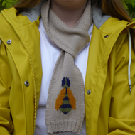 Bumble Bee Knitted Wool Scarf