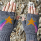 Shooting Stars Knitted Wool Hand Warmers