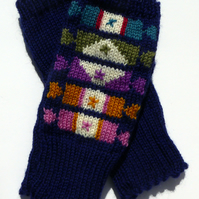 Sweet Knitted Fingerless Wool Gloves