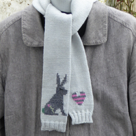 Skinny Rabbit Knitted Scarf