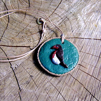 'Robin Redbreast' Hand Made Pendant