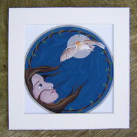 small print 'Moonlit Flight'