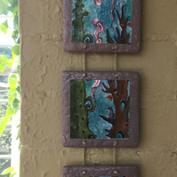 Triptych Wall Art - Ocean Floor