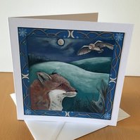 Winter's Fox - Blank Greeting Card