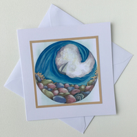 Abstract Sea - Blank Greeting Card