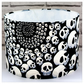 Homemade Skull Drum Lamp Shades Fabric Lampshade in Black and White
