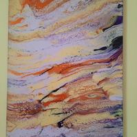Original Acrylic Pour Painting in Lilac – Affordable Modern Art-Contemporary Art