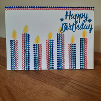 Handcrafted Birthday Cards - Gemstone Cards - Handmade Birthday Cards
