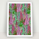 Lupin Floral Print