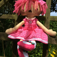 Cloth doll - Florence Flamingo