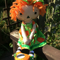 Cloth doll - Pumpkin