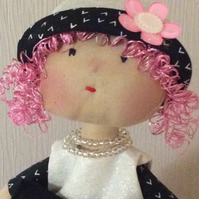 Lottie - Handmade Art Rag doll