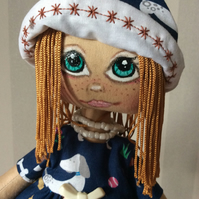 Handmade Art Rag Doll