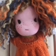 knitted rag doll - Georgina