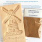 vandotsch speculaas spice pack with a large windmill wooden mould