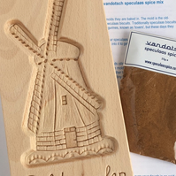 Extra Large Windmill Mould with speculaas spice pack