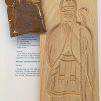 Sinterklaas mould with speculaas spice mix
