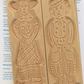 Large Woman & Man Mould with speculaas pack