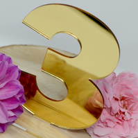 Gold Acrylic Mirrored Wedding Table Numbers - Wedding Table Numbers