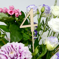 Wooden Wedding Table Numbers (FREE POSTAGE)