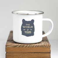The World is Yours, Enamel Camping Mug 025