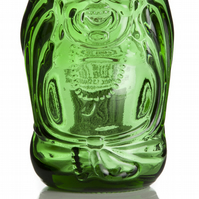 Upcycled Lucky Buddha Beer Glass
