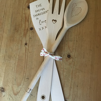 The secret ingredient is love utensil set