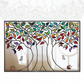 "Landscape multi-coloured lead overlay tree mirror 91 x 71cm (36 x 28"")"