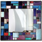 "Mosaic Design Lead Overlay Stained Glass Mirror 91 x 91 cm (36 x 36"")"