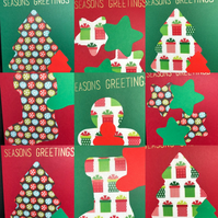 Cut Out Christmas Cards - Set of 5