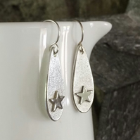 Star earrings, Silver earrings