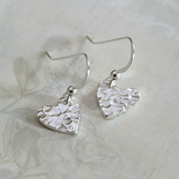 Heart shaped, Silver hearts, Silver earrings
