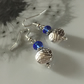 Tibetan silver and blue crystal earrings