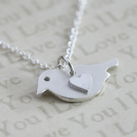 Silver Bird necklace, Silver necklace