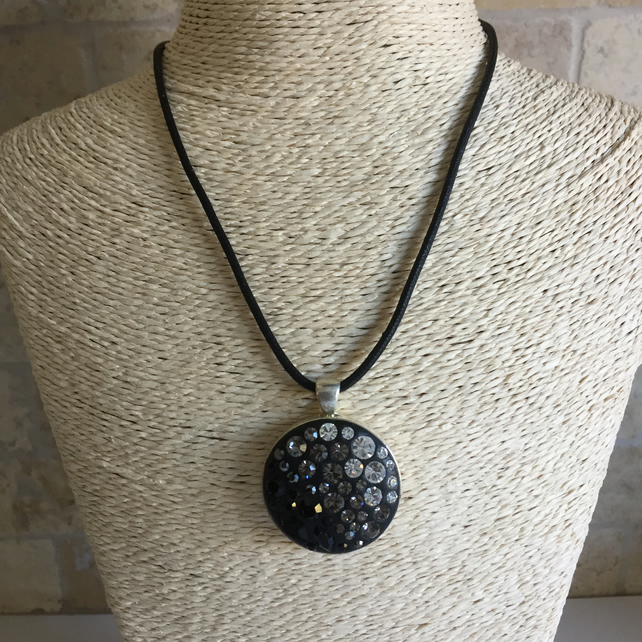 Black and Grey Crystal necklace