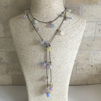 Spring colours Lariat, Long necklace