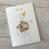 Happy 18th birthday card,  Mens birthday cards, Personalised card