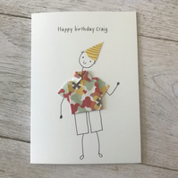 Male birthday card, Personalised, Cards for men