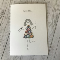 Happy 18th birthday card,  Personalised card