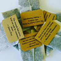 Box of 16 Individually Tagged Teabags with Healing Quotes