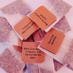 Box of 16 Individually Tagged Teabags with Positive Thoughts messages