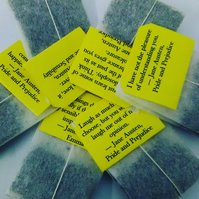 Personalized Tea bags tagged with Literary quotes from Jane Austen