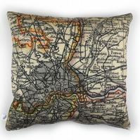 Antique Map of London Cushion