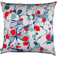 Orange Marble Print Cushion