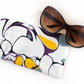 Yellow Marble Print Sunglasses Case