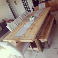 Refectory Style Dining Table, Handcrafted, Chunky Timber