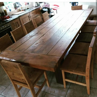 Rustic Handmade Reclaimed Timber Dining Table