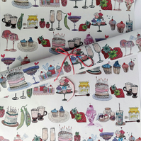 Recycled gift wrap - Yummy things