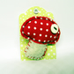 Woodland Mushroom Brooch in felt and fabric - Fly Agaric Toadstool
