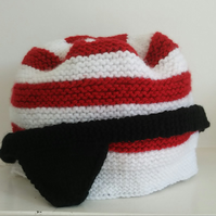 Hand-knitted Pirate's Hat and Eye Patch